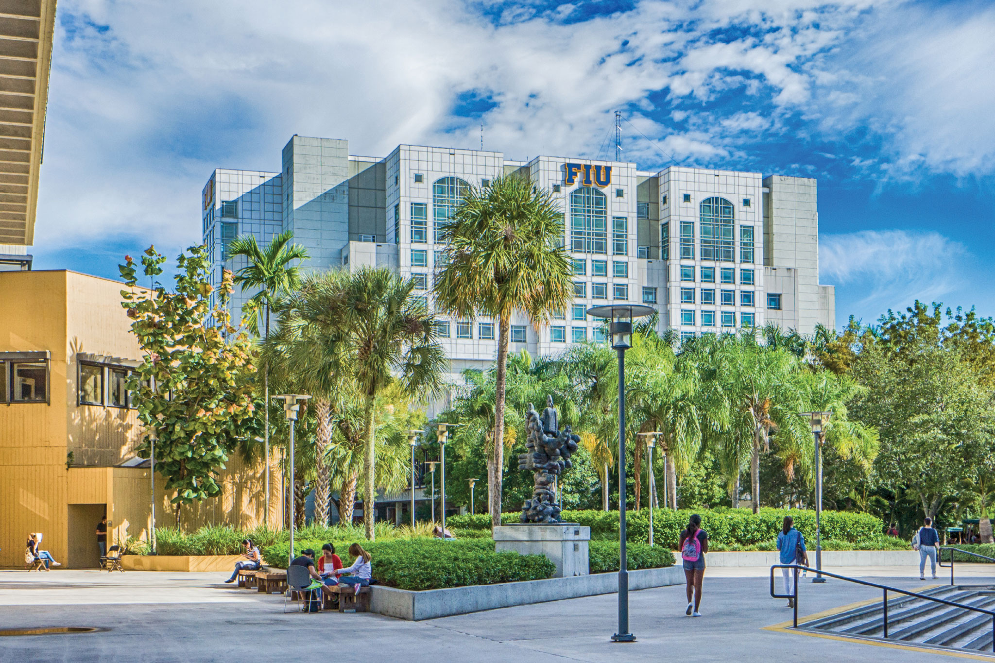 Photo of the FIU Campus. Link to The Legacy for Learning Society.